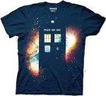 Doctor Who Tardis And The Galaxy T-Shirt