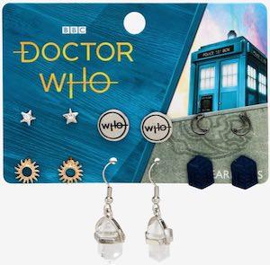 5 Piece Doctor Who Earrings Set