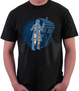 The 4th Doctor And The Tardis T-Shirt