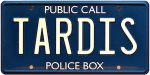 Doctor Who Metal Tardis License Plate