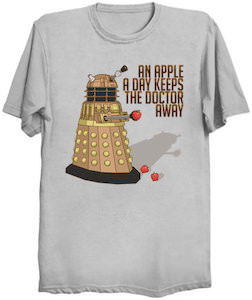 Doctor Who An Apple A Day Keeps The Doctor Away T-Shirt