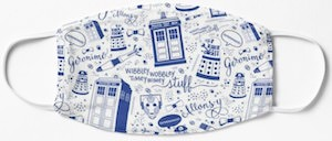 The World Of The Doctor Face Mask