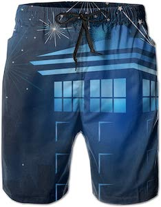 Doctor Who Tardis And The Stars Swim Shorts