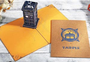 3D Tardis Greeting Card